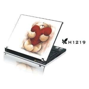 15.4 Laptop Notebook Skins Sticker Cover H1219 Bear Heart