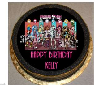 MONSTER HIGH Frosting ROUND Edible Cake Topper Image