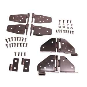 Rugged Ridge 11180.03 Black Chrome Door Hinge Kit