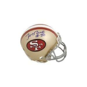 JERRY RICE SAN FRANCISCO 49ERS HALL OF FAMER SIGNED AUTOGRAPHED MINI