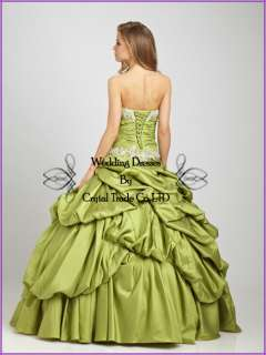 2012 Quinceanera Wedding Ball Gown/Prom Evening dress US SZ4 6 8 10 12