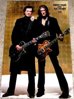 JIMMY PAGE & JOE PERRY LED ZEPPELIN AEROSMITH POSTER