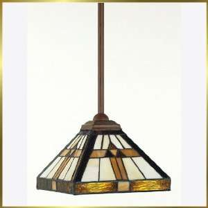 Tiffany Pendant, QZTF1510Z, 1 light, Antique Bronze, 8