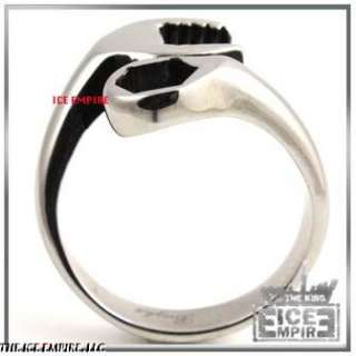 WOMENS/LADIES STAINLESS STEEL WRENCH RING SIZE5 9 R005