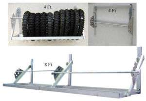 4ft Aluminum Tire Rack Race Car Trailer Accessory