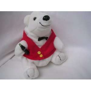 Coca Cola Collectible Polar Bear Cub Plush 7 Beanie Toy