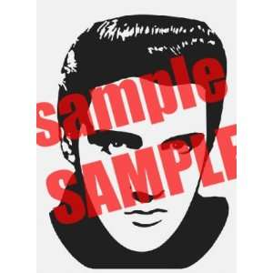 ELVIS PRESLEY 2 FAMOUS PEOPLE WHITE VINYL DECAL STICKER