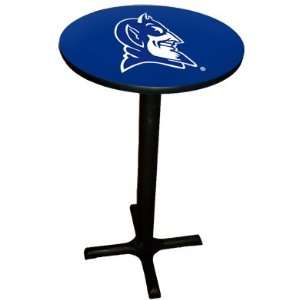 com Duke Blue Devils College Laminated Pub Table w/black trim & black