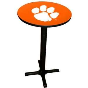 Clemson Tigers College Laminated Pub Table w/black trim & black x base