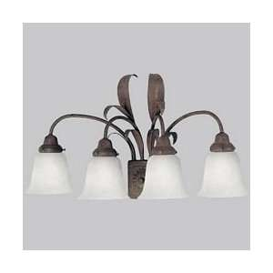Cameron Tropical / Safari 4 Light Bathroom Fixture from the Ca Home