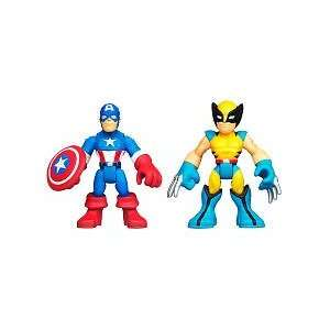 Marvel Super Hero Adventures Mini Figure 2Pack Captain America