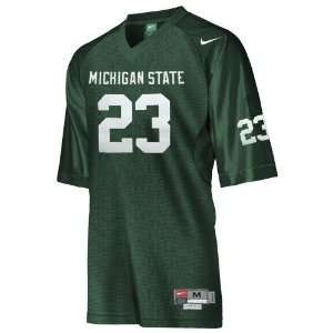 Nike Michigan State Spartans #23 Green Twilled Football Jersey