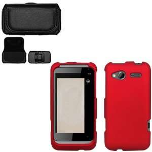 iFase Brand HTC Radar Combo Rubber Red Protective Case