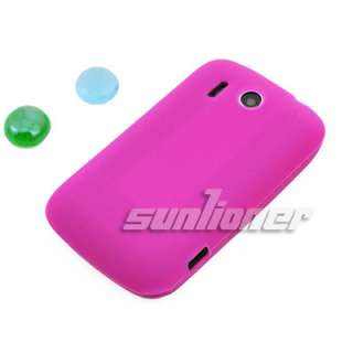 hot pink Silicone Case Skin Cover for HTC Explorer,Pico,A310e +LCD