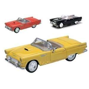 Set of 4   1956 Ford Thunderbird Convertible 1/24 Toys