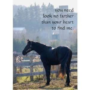 Pet Loss Sympathy Card for Horse Lovers