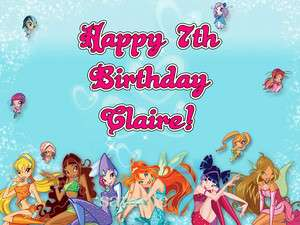 WINX Club Edible CAKE Image Icing Topper Photo Frosting Sheet