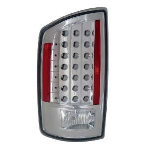 Dodge Ram 07 08 LED Taillights All Chrome   (Sold in Pairs