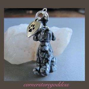 Snowflake Obsidian Lab Labrador Retriever Dog Charm