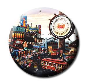 Fisherman Wharf   San Francisco Souvenir Fridge Magnet