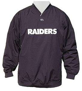 Oakland Raiders NFL Club Pass Pullover Jacket Windbreaker NWT by