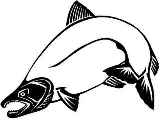 Salmon Fish Vinyl Decal Car Truck Cycle Window Sticker
