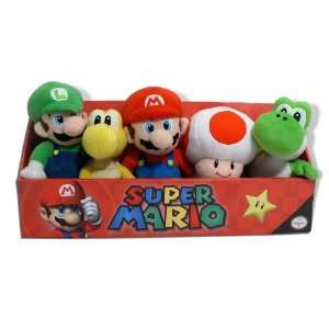Super Mario Plush   6 Piece Set in Fun, Colorful Box Toys