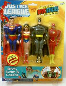 JUSTICE LEAGUE UNLIMITED JLU DIVE STICKS DIVE HEROES BATMAN SUPERMAN
