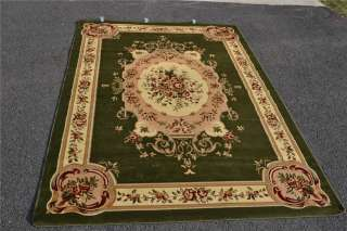 Burgundy Green Beige Black Brown Victorian Area Rug Carpet Floral