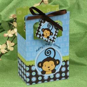 Monkey Boy   Classic Personalized Baby Shower Favor Boxes