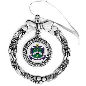 Delta Sigma Phi Pewter Holiday Ornament