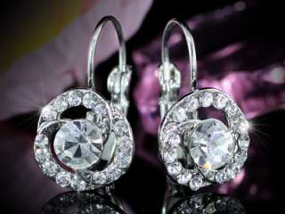Rose Earrings use Swarovski Crystal SE107 w/ Gift Box