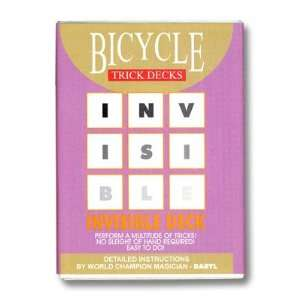 Bicycle Invisible Deck of Trick Cards with Mandolin Backs