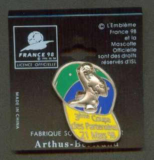 1998 France World Cup FIFA Pin Cap