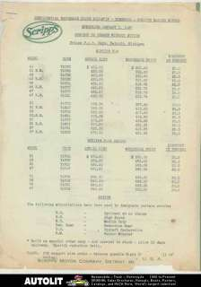 1937 Scripps Ford V8 Lincoln Zephyr V12 Marine Boat Engine Price List