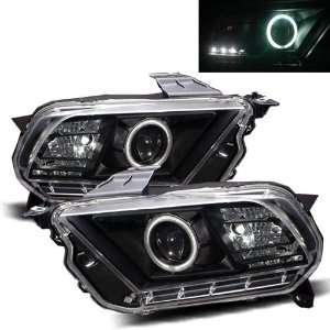 10 11 Ford Mustang Black CCFL Halo Projector Headlights Automotive