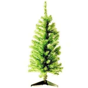 Lime Noble Pine Tinsel Artificial Christmas Tree
