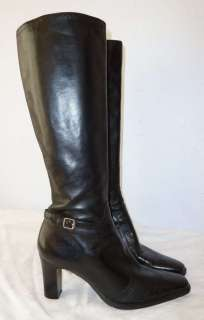 High heels Michelle D. Leather Tall boots shoes Size 9M