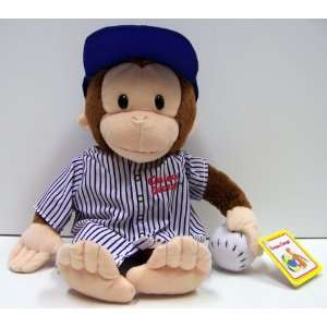 Curious George    Baseball Player Plush Doll Toys & Games