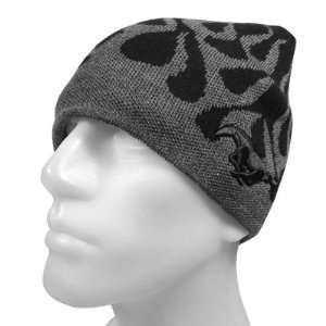 Ford Mustang Gray Flame Beanie Cap, Official Licensed