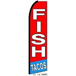 Fish Tacos Extra Wide Swooper Feather Business Flag