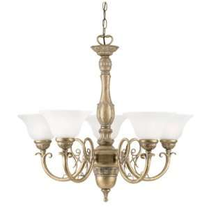 Westinghouse 67248   5 Light Cozumel Gold Ceiling Chandelier Light