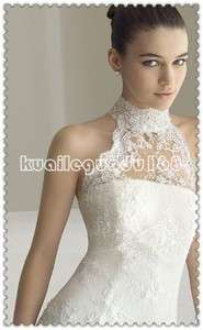 Noble White strapless multi layer Wedding bridal prom gown zipper Size