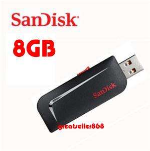 Sandisk 8GB 8G 8 G GB Cruzer Slice USB Flash Drive New