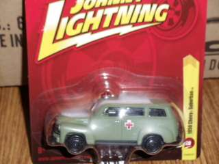 Johnny Lightning FOREVER 50 Chevy Suburban MILITARY Ambulance
