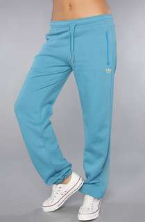 adidas The Sport Fleece Cuffed Track Pant in Heather Blue White