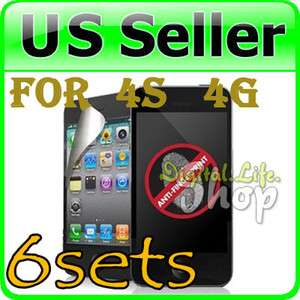 FRONT BACK ANTI GLARE SCREEN PROTECTOR FOR iPHONE 4 G