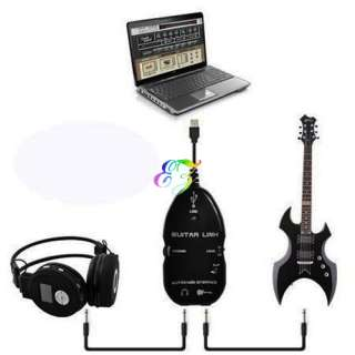 USB Interface Guitar Link Cable Recording Fit PC Mac