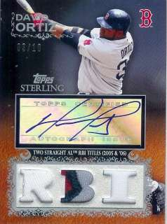 2009 Topps Sterling Auto/Jersey Patch David Ortiz 03/10