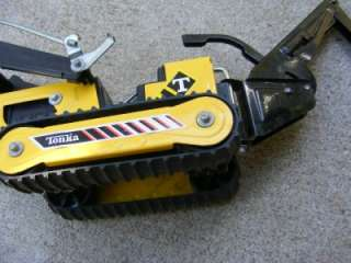 TONKA BACKHOE FRONT END TRACK LOADER CATERPILLAR CRAWLER TYPE TOY